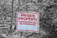 Plate private property Royalty Free Stock Photography