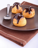 Plate of profiterole Royalty Free Stock Photo