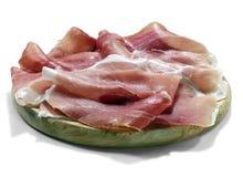 Plate of prosciutto Stock Photos