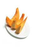 Plate of Pumpkin Slices Royalty Free Stock Photography