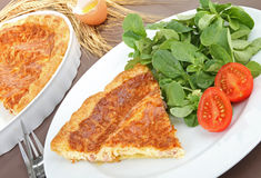 Plate of quiche Stock Photography