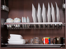 Plate Rack Royalty Free Stock Photography