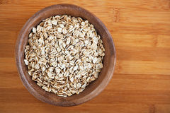 Plate with raw oatmeal Stock Photo