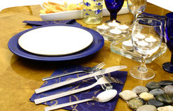 Plate ready for a dinner. Close up at laid table for a occasional dinner Royalty Free Stock Images