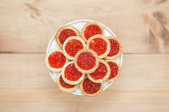 Plate with red caviar Royalty Free Stock Image