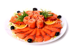 Plate of red fish Royalty Free Stock Image