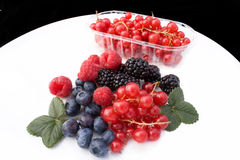 Plate With Red Soft Fruits Royalty Free Stock Image