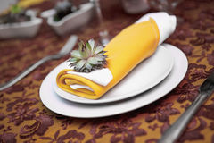 Plate in restaurant Royalty Free Stock Images