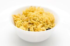 Plate with rice Royalty Free Stock Photography