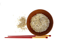 A plate of rice Royalty Free Stock Images