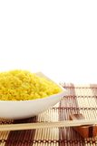 Plate of rice and wood sticks Royalty Free Stock Image
