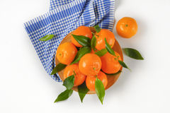 Plate of ripe tangerines Royalty Free Stock Photo
