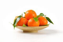 Plate of ripe tangerines Stock Photography