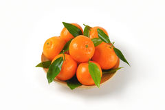 Plate of ripe tangerines Royalty Free Stock Images