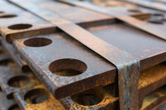 Plate of rips for railroad construction Stock Image