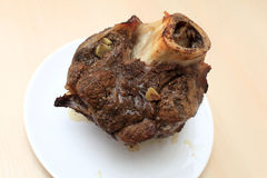 Plate with roast beef shin Royalty Free Stock Photos