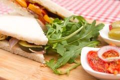 Vegan vegetable sandwiches Royalty Free Stock Photo