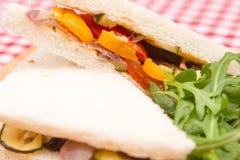 Vegan vegetable sandwiches Royalty Free Stock Image