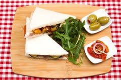 Vegan vegetable sandwiches Stock Photo