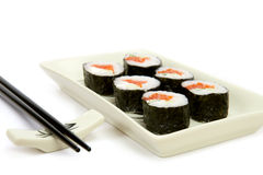 The plate of rolls Stock Images