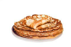 The plate of russian pancakes Stock Photo