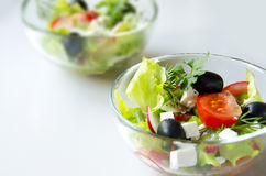 Plate of salad. Dish tasty and healthy salad Royalty Free Stock Photography