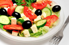 Plate with salad Royalty Free Stock Images