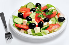 Plate with salad Stock Images