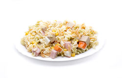 Plate salad pasta Royalty Free Stock Photo