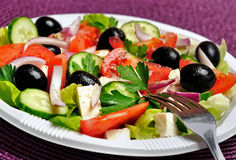 Plate with salad Stock Image