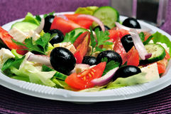 Plate with salad Royalty Free Stock Photos