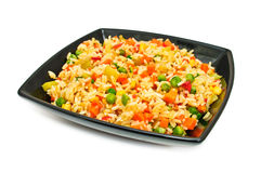 Plate with salad from rice Stock Photo