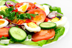 Plate with salad Royalty Free Stock Photography