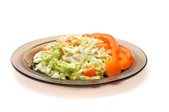 Plate of salat Stock Photography