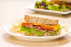 plate salladsmörgåsen Royaltyfria Bilder