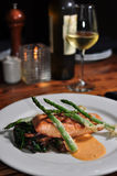 Plate of Salmon with Asparagus Royalty Free Stock Photo