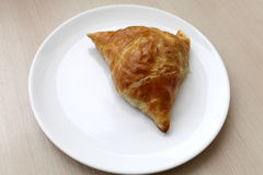 Plate with samsa Royalty Free Stock Photo