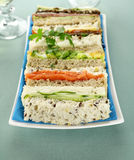 Plate Of Sandwiches Stock Photo