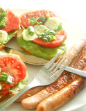 Plate with sandwiches Royalty Free Stock Photo
