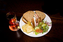 Plate of sandwiches Royalty Free Stock Photos