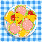 A plate of sandwiches Royalty Free Stock Photos
