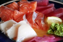 Plate of sashimi Stock Photo
