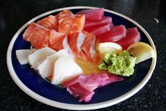 Plate of sashimi Stock Image
