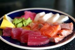 Plate of sashimi Stock Photos