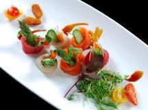 Plate of Sashimi. Image of a beautiful assortment of Japanese Sashimi royalty free stock photos