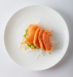 Plate with sashimi  d Royalty Free Stock Photo
