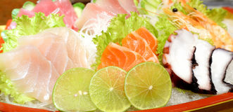 Plate of Sashimi Stock Images
