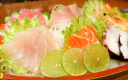 Plate of Sashimi Royalty Free Stock Image