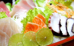 Plate of Sashimi Stock Photos