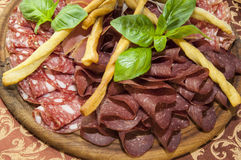 Plate of sausages Stock Image